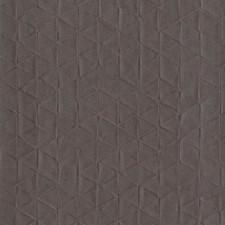 Deep Brown Geometrics Wallcovering by York