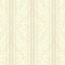 Off-white/Cream/Beige Damask Wallcovering by York