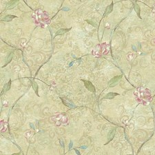 Beige/Tan/Pink Botanical Wallcovering by York