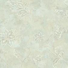 Pale Aqua/Light Beige/Cream Bohemian Wallcovering by York