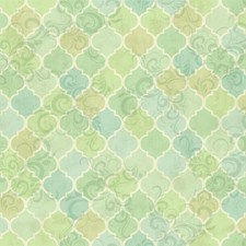 Green/Blue/White Bricks Wallcovering by York