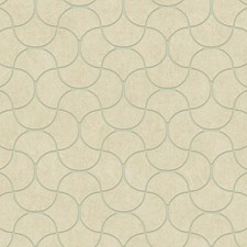 Aqua/Cream/Gold Geometrics Wallcovering by York