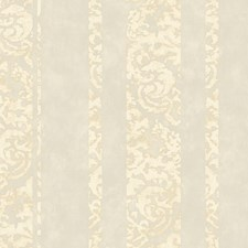 Silver/Cream Damask Wallcovering by York
