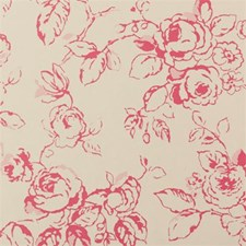Raspberry Floral Large Wallcovering by Clarke & Clarke