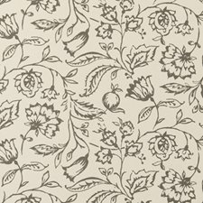 Charcoal/Cream Floral Medium Wallcovering by Clarke & Clarke