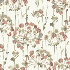 Pink/Silver/Ivory Botanical Wallcovering by Kravet Wallpaper