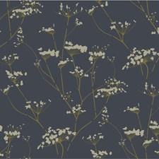 Charcoal/Gold/Ivory Botanical Wallcovering by Kravet Wallpaper
