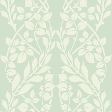 Light Green/White/Metallic Botanical Wallcovering by Kravet Wallpaper
