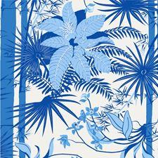 Blue Botanical Wallcovering by Kravet Wallpaper