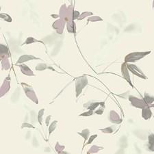 Ivory/Pink/Gold Botanical Wallcovering by Kravet Wallpaper