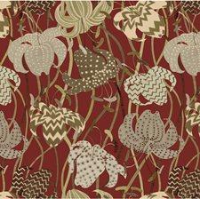Rust/Beige/Multi Botanical Wallcovering by Kravet Wallpaper