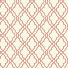 Coral/Cream Geometrics Wallcovering by York
