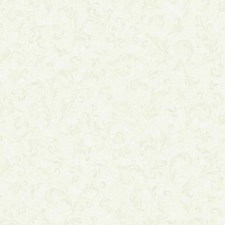 Misty White/Phantom Grey Scroll Wallcovering by York