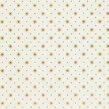 Gold/Black On White Wallcovering by Scalamandre Wallpaper
