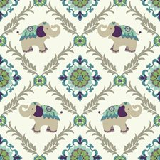 White/Beige/Teal Animals Wallcovering by York