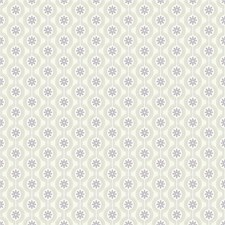 White/Lavender/Pale Metallic Gold Floral Wallcovering by York