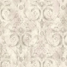 Silver/Purple Wallcovering by Scalamandre Wallpaper