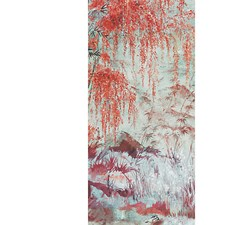 Turquoise Red Wallcovering by Scalamandre Wallpaper