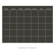 WP1157 Chalkboard Monthly Dry Erase Calendar Decal by Brewster