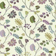 Cream/Plum Purple/Lilac Purple Botanical Wallcovering by York