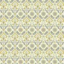 Cream/Mustard Yellow/Muted Buttercup Yellow Floral Medium Wallcovering by York