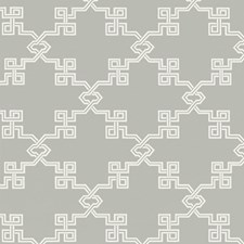 French Grey Screen Print Wallcovering by Scalamandre Wallpaper