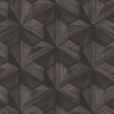 Dark Brown Wallcovering by Scalamandre Wallpaper