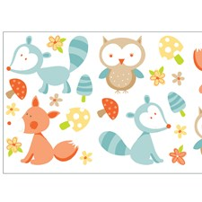 WS40262 Forest Friends Multi Wall Stickers by Brewster