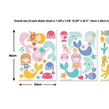 WT45040 Mermaids Wall Art Kit by Brewster