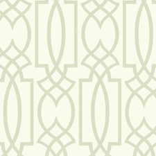 White/Silver Lattice Wallcovering by York